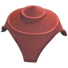 Broekstuk porte poinçon met 1 grote en 2 kleine ronde openingen  Rouge