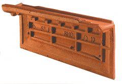 Accessoire terre cuite d'EDILIANS : Rive individuelle droite à emboîtement OMEGA 13 Rouge