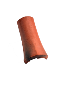 Accessoire terre cuite d'EDILIANS : Faîtière / arêtier Epi Rouge Patine