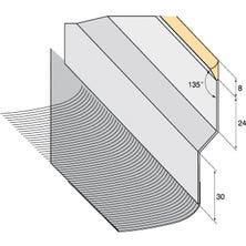 Solin zink Mastiekdichting + Geplooid lood breedte 145mm 4/10 natuurlijke kleur lengte 200cm